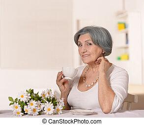 tea, nő, öregedő