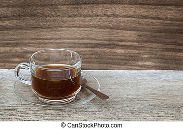 Tea on a wooden background