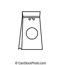 Tea packed in a paper bag icon, outline style