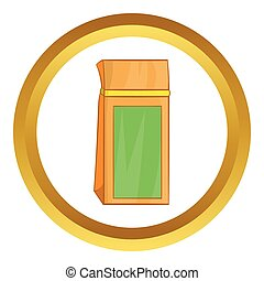 Tea packed in a paper bag vector icon