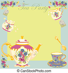 Tea Party Garden Party Invitation - Tea Party or Garden...