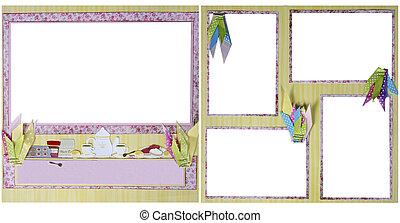 Tea Party  Scrapbook Frame Template