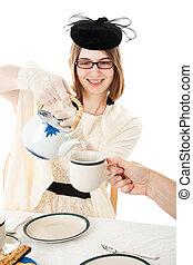 Tea Party - Teen Serves Tea