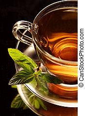 Tea - Cup of tea black baground