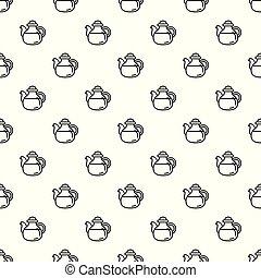 Tea pot pattern seamless vector