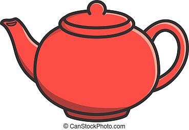 Cartoon Tea Pot Vector Illustration Search Clipart
