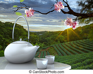 tea pot with nice background for adv or others purpose use