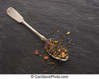 tea, sencha, színes
