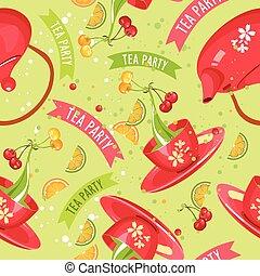 tea set seamless pattern