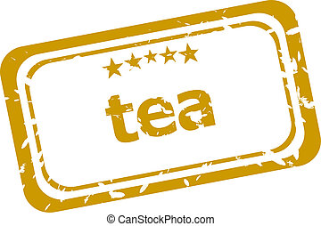 tea stamp isolated on white background