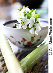 Tea Still Life - Tea in antique porcelian cup (genuine 18th...
