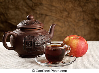 Tea time. Cuisine still life on the table