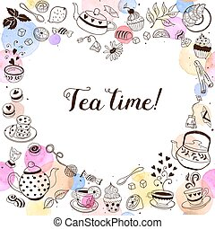 Tea time invitation template