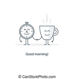 Tea time, morning cup of coffee