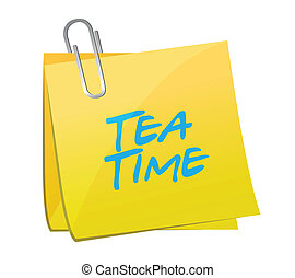 tea time post message illustration