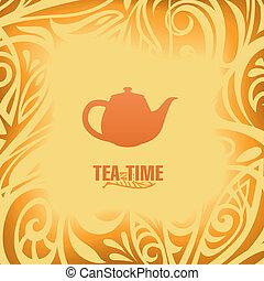 tea time vector template