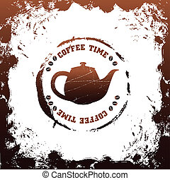 tea time vector template