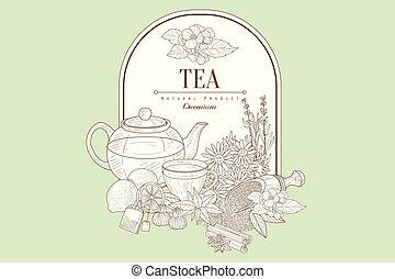 Tea, Vector Illustration Banner