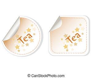 Tea vector set label stickers label