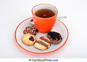 Tea with cakes