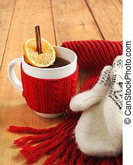 Tea with cinnamon and citrus