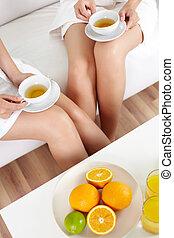 Tea with citrus
