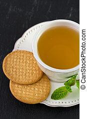 tea with cookies