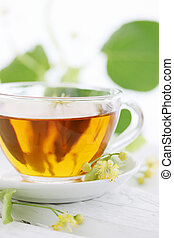 tea with lime blossoms