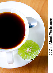 Tea with Lime in white cup