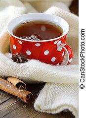 Tea with spices - cinnamon