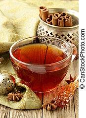 Tea with spices - cinnamon,