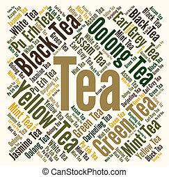 Tea word cloud concept