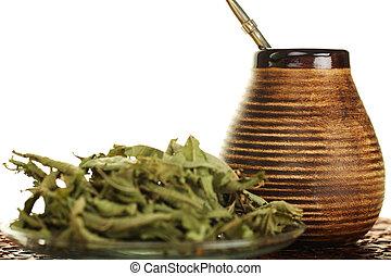 tea, yerba, társ