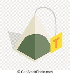 Teabag isometric icon