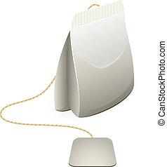 Tea bag over white. EPS 8, AI, JPEG