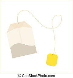 Teabag vector label
