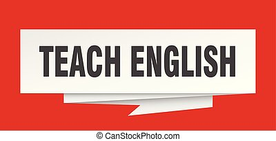 teach english sign. teach english paper origami speech...