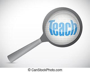Teach magnify review illustration design