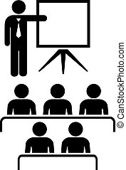 Teacher and audience icon