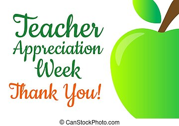 Teacher Appreciation Week. Holiday concept. Template for background, banner, card, poster with text inscription. Vector EPS10 illustration