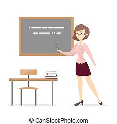 Teacher at school.
