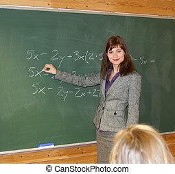 Teacher - Beautiful teacher teaching math