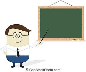 teacher cartoon flat design