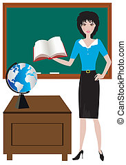 teacher - vector teacher in the classroom