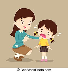 Teacher Comforting crying boy - Teacher Comforting Upset ...
