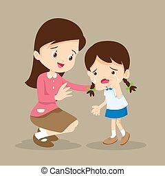 Teacher Comforting crying girl