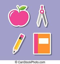 teacher day set of utensil supplies