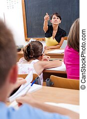 Teacher discovers cheating student