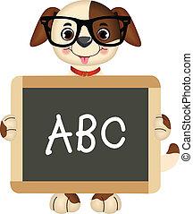 Teacher Dog - Scalable vectorial image representing a...