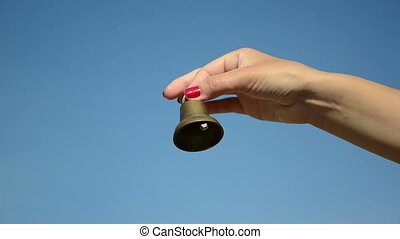 teacher hand bell ring